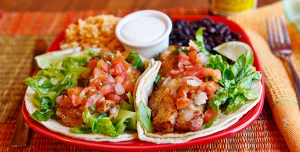 Cajun Fish Taco Platter | Baja Taqueria